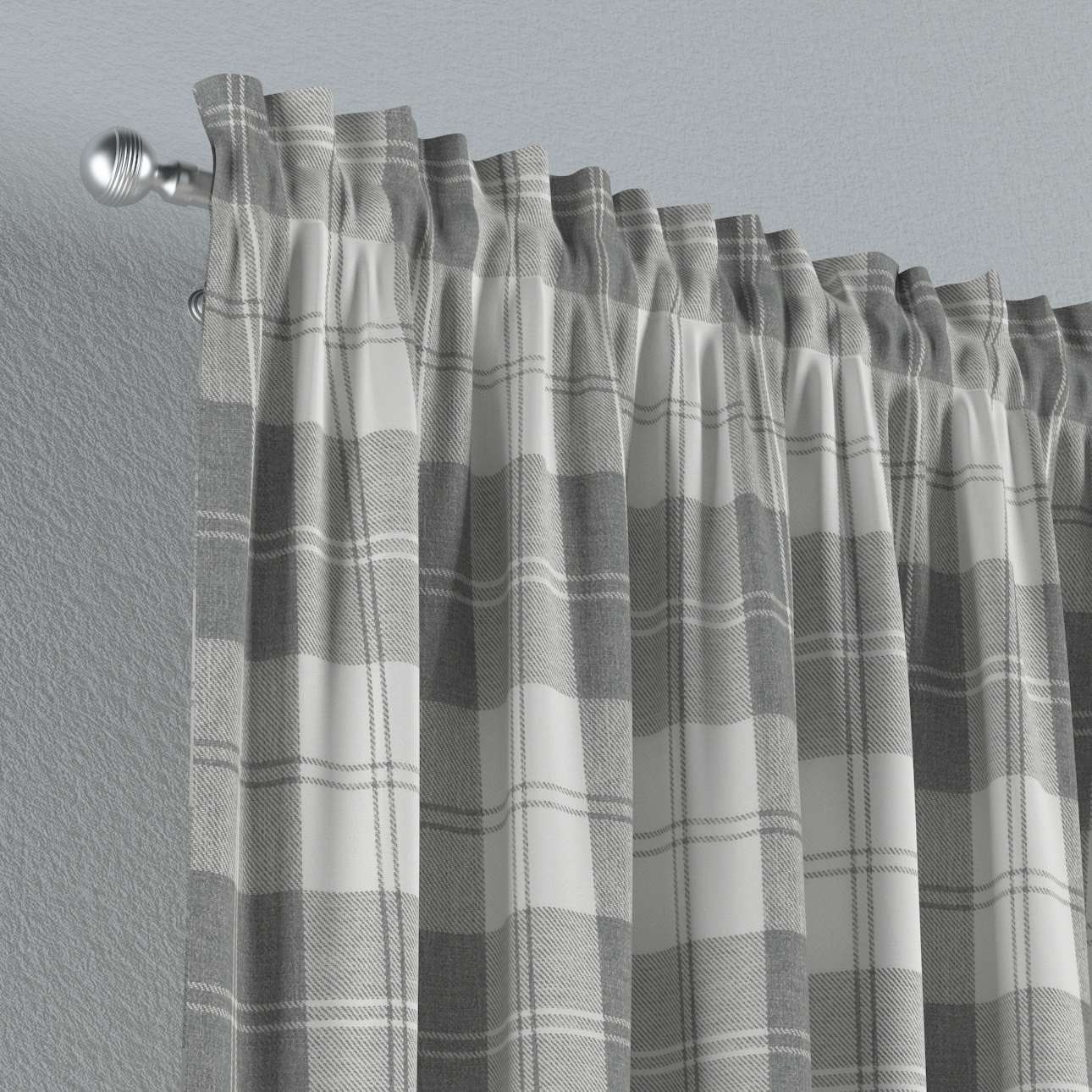 Slot and frill curtains 130 × 260 cm (51 × 102 inch) in collection Edinburgh, fabric: 115-79