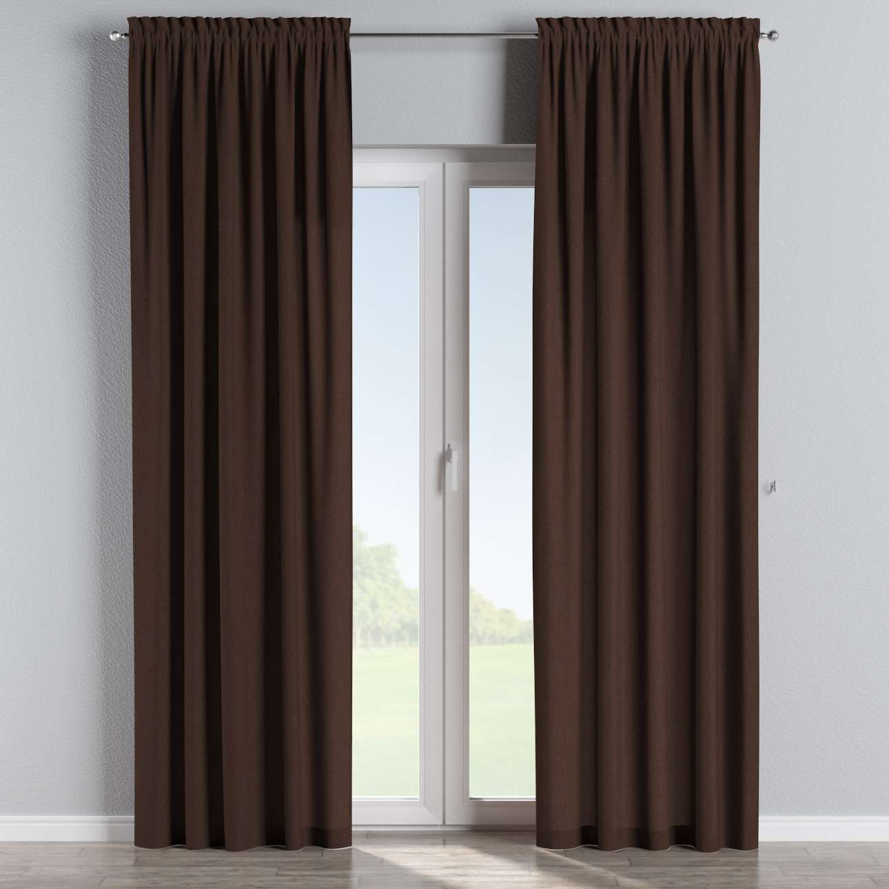 Slot and frill curtains in collection Chenille, fabric: 702-18