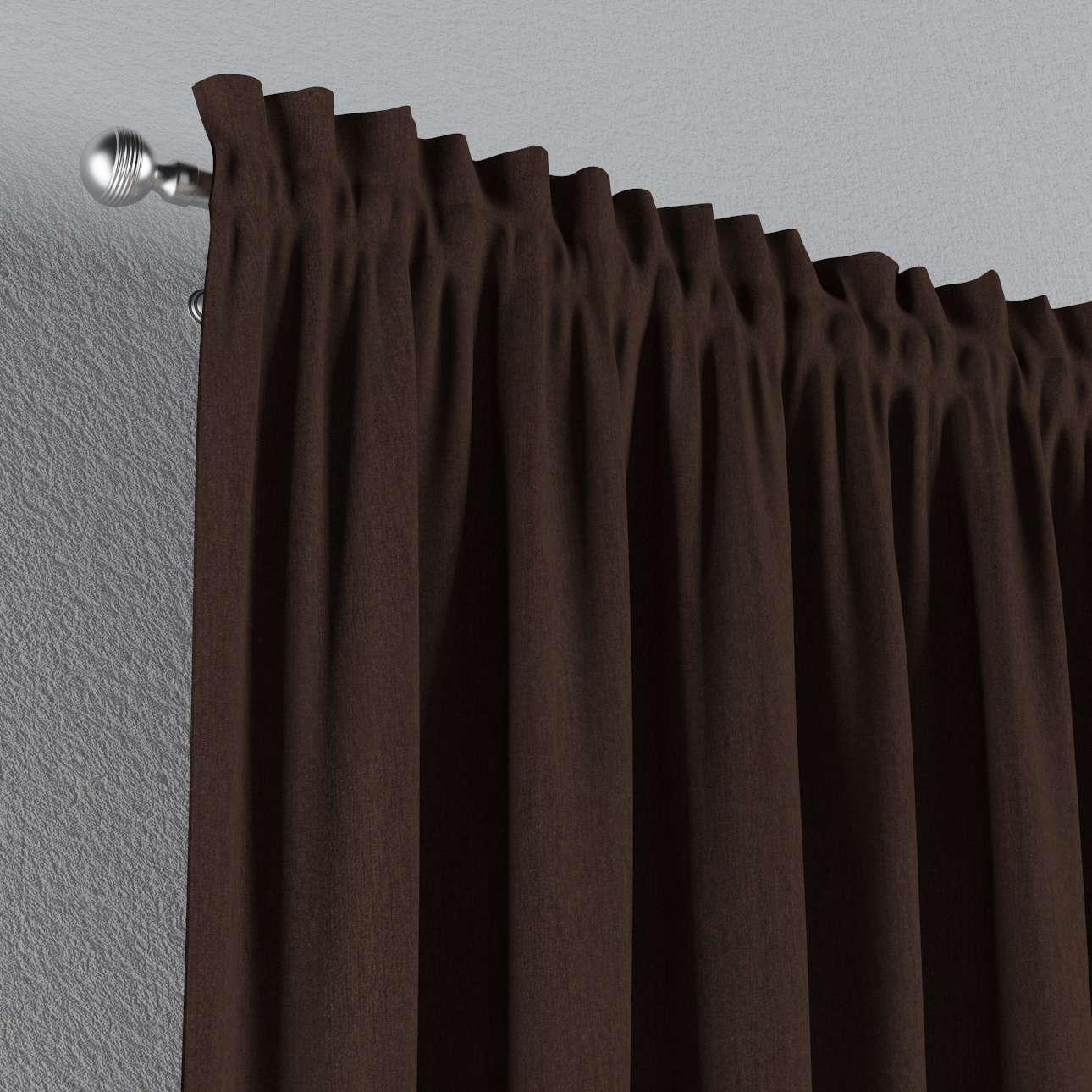 Vorhang mit Tunnel und Köpfchen von der Kollektion Chenille , Stoff: 702-18