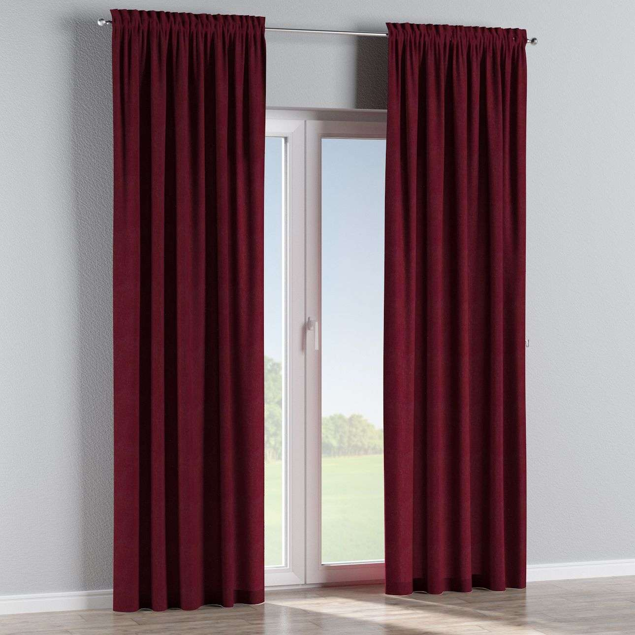 Slot and frill curtains in collection Chenille, fabric: 702-19