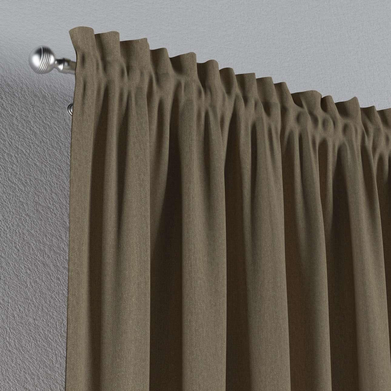Zasłona na kanale z grzywką 1 szt. 1szt 130x260 cm w kolekcji Chenille, tkanina: 702-21