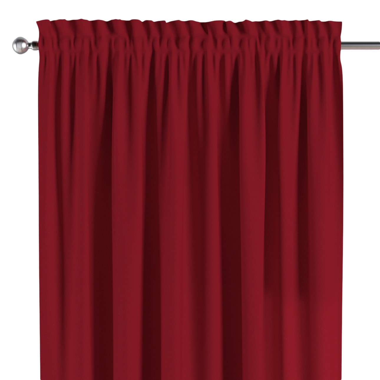 Slot and frill curtains 130 x 260 cm (51 x 102 inch) in collection Chenille, fabric: 702-24