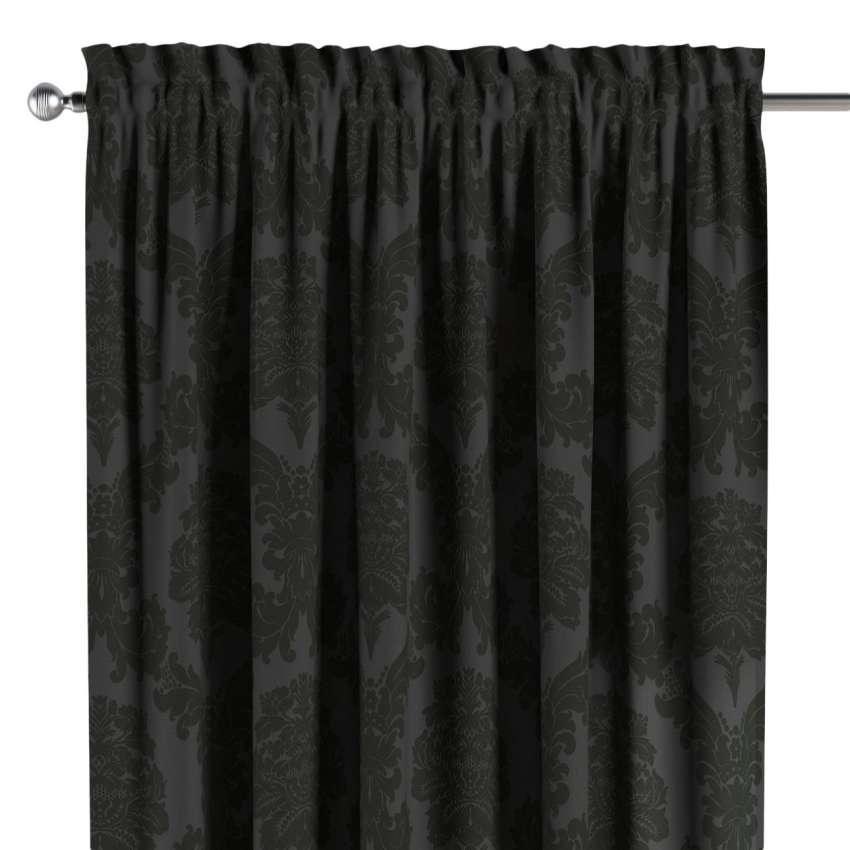 vorhang mit tunnel und k pfchen schwarz dekoria. Black Bedroom Furniture Sets. Home Design Ideas