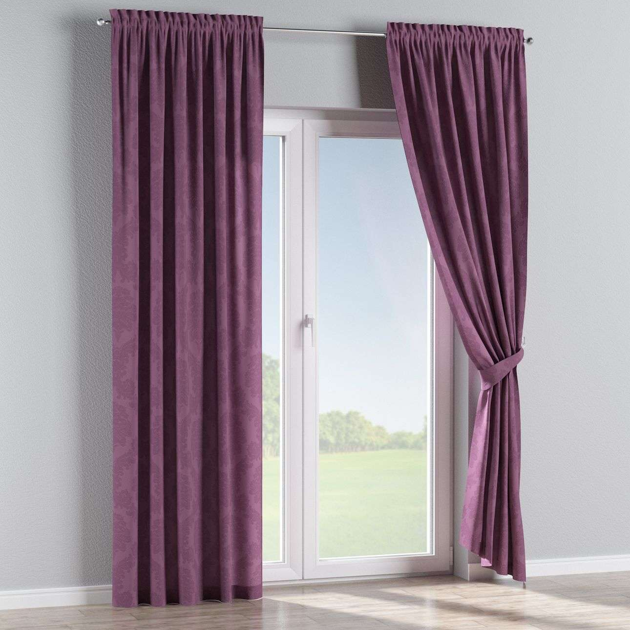 Slot and frill curtains 130 × 260 cm (51 × 102 inch) in collection Damasco, fabric: 613-75