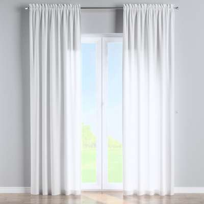 Slot and frill curtain 133-02 off white Collection Loneta
