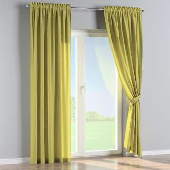 Slot and frill curtains 130 x 260 cm (51 x 102 inch) in collection Loneta , fabric: 133-23