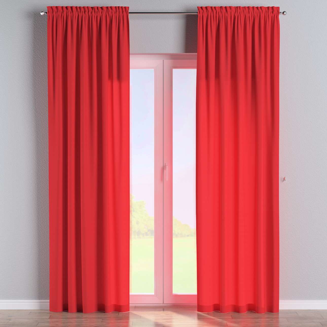 Slot and frill curtains in collection Loneta , fabric: 133-43