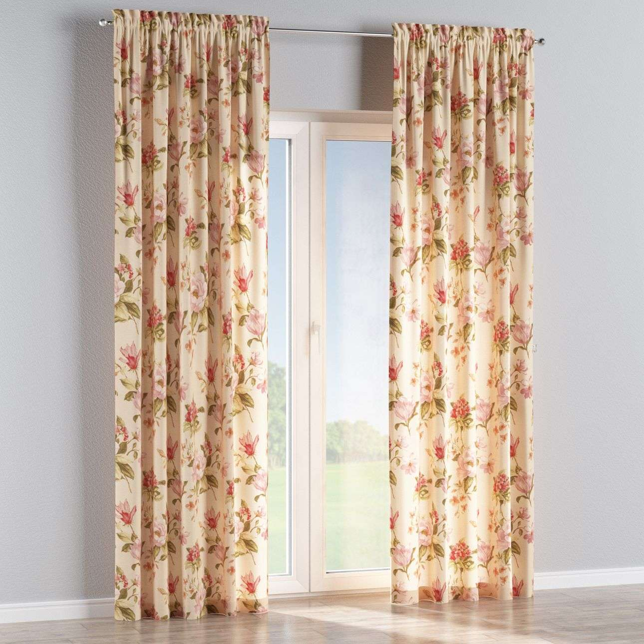 Slot and frill curtains in collection Londres, fabric: 123-05