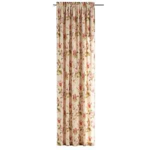 Zasłona na kanale z grzywką 1 szt. 1szt 130x260 cm w kolekcji Londres, tkanina: 123-05