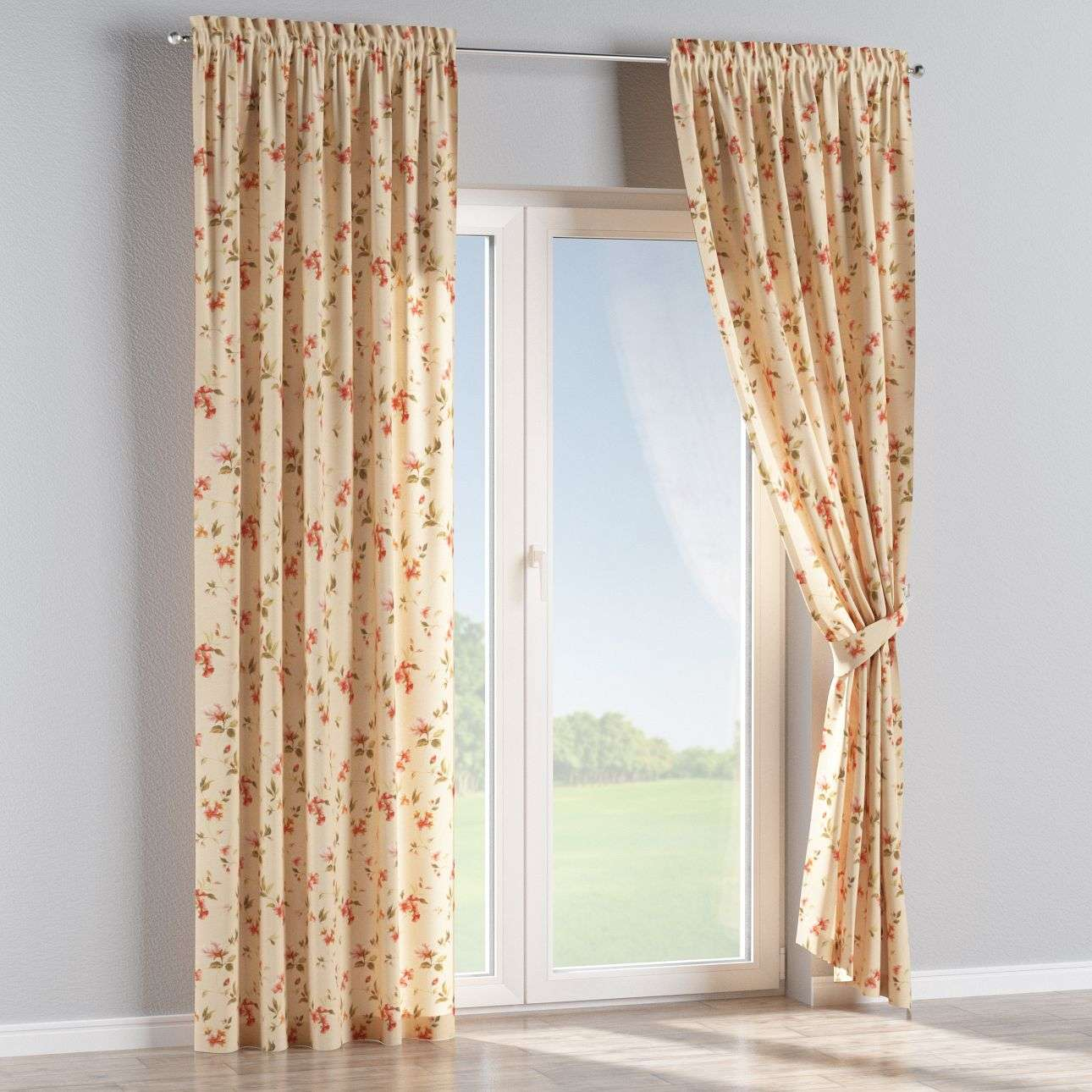 Slot and frill curtains 130 × 260 cm (51 × 102 inch) in collection Londres, fabric: 124-05