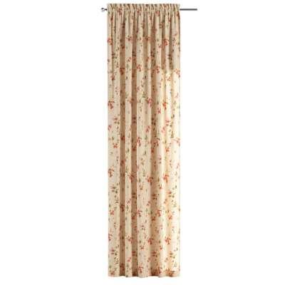 Zasłona na kanale z grzywką 1 szt. w kolekcji Londres, tkanina: 124-05