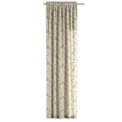 Zasłona na kanale z grzywką 1 szt. w kolekcji Londres, tkanina: 124-65