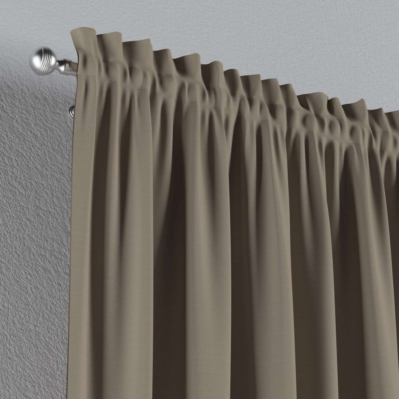 Zasłona na kanale z grzywką 1 szt. 1szt 130x260 cm w kolekcji Cotton Panama, tkanina: 702-28