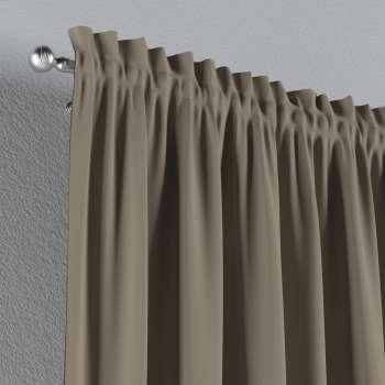 Vorhang mit Tunnel und Köpfchen von der Kollektion Cotton Panama, Stoff: 702-28