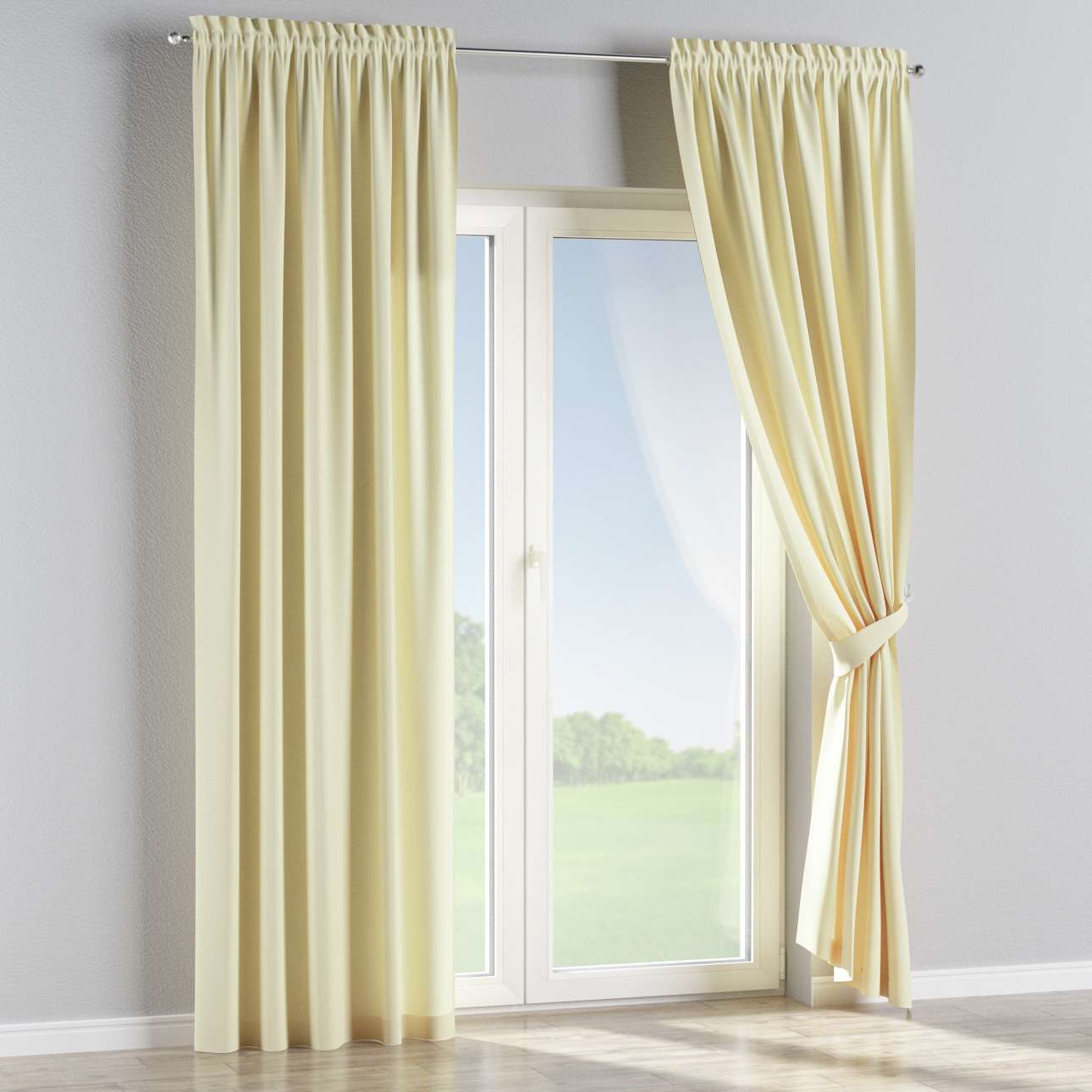 Slot and frill curtains in collection Panama Cotton, fabric: 702-29
