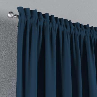 Vorhang mit Tunnel und Köpfchen von der Kollektion Cotton Panama, Stoff: 702-30