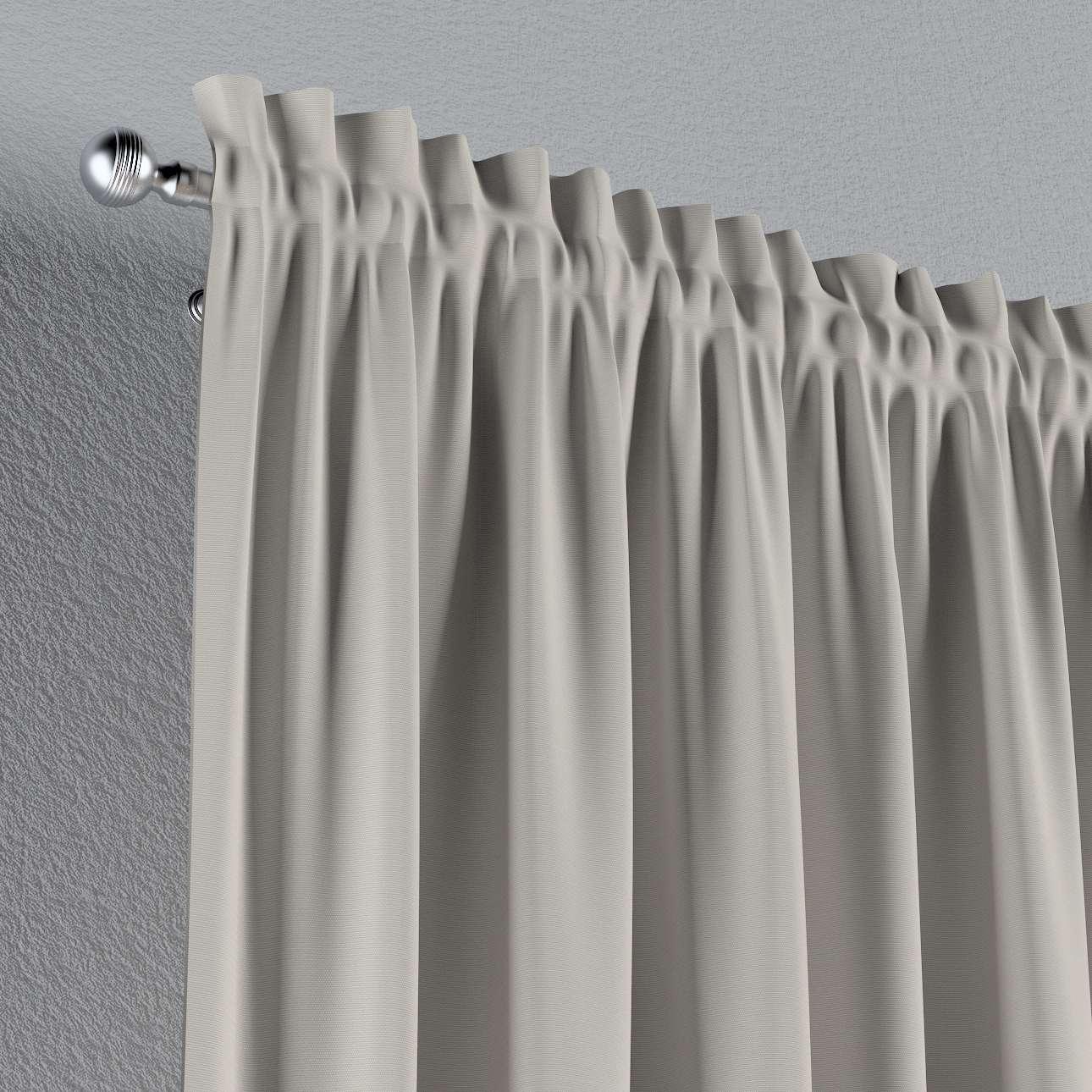 Zasłona na kanale z grzywką 1 szt. 1szt 130x260 cm w kolekcji Cotton Panama, tkanina: 702-31
