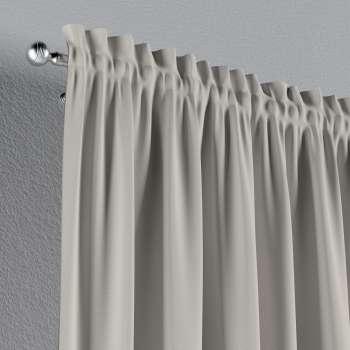 Vorhang mit Tunnel und Köpfchen von der Kollektion Cotton Panama, Stoff: 702-31