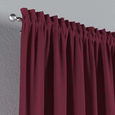 Vorhang mit Tunnel und Köpfchen von der Kollektion Cotton Panama, Stoff: 702-32