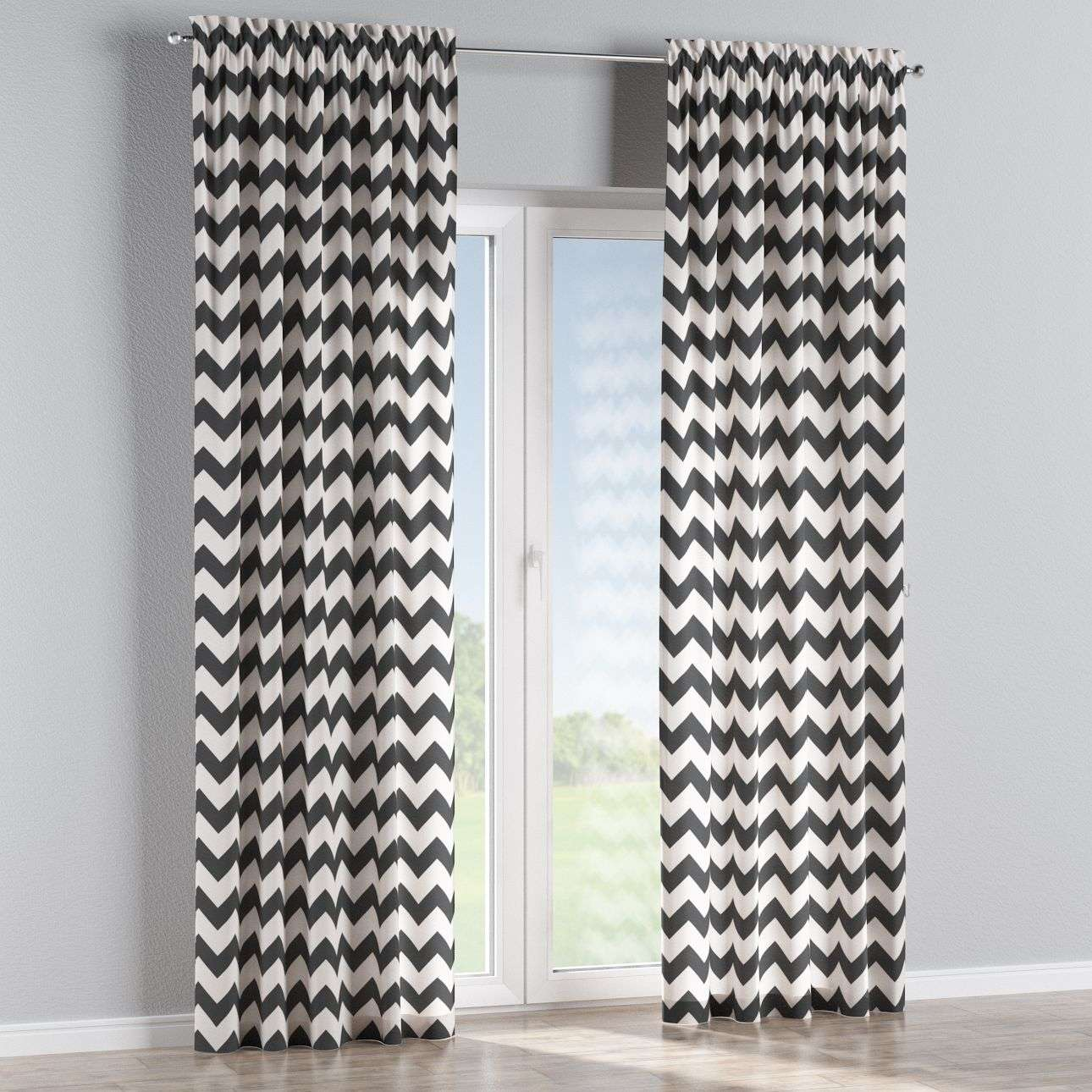 Slot and frill curtains 130 × 260 cm (51 × 102 inch) in collection Comics/Geometrical, fabric: 135-02