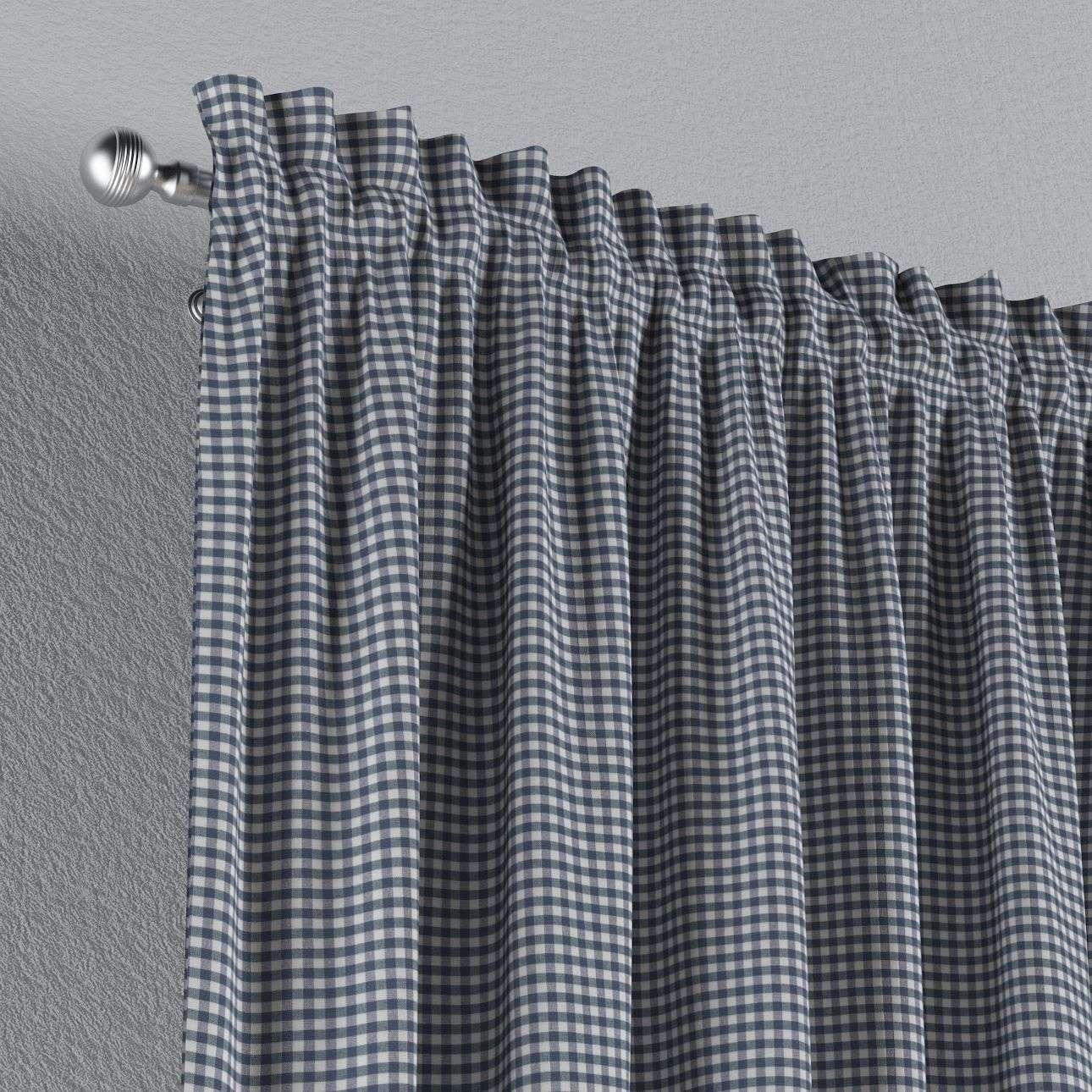 Zasłona na kanale z grzywką 1 szt. w kolekcji Quadro, tkanina: 136-00