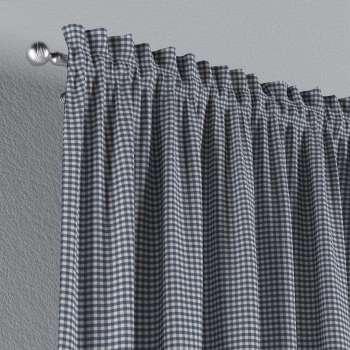 Zasłona na kanale z grzywką 1 szt. 1szt 130x260 cm w kolekcji Quadro, tkanina: 136-00