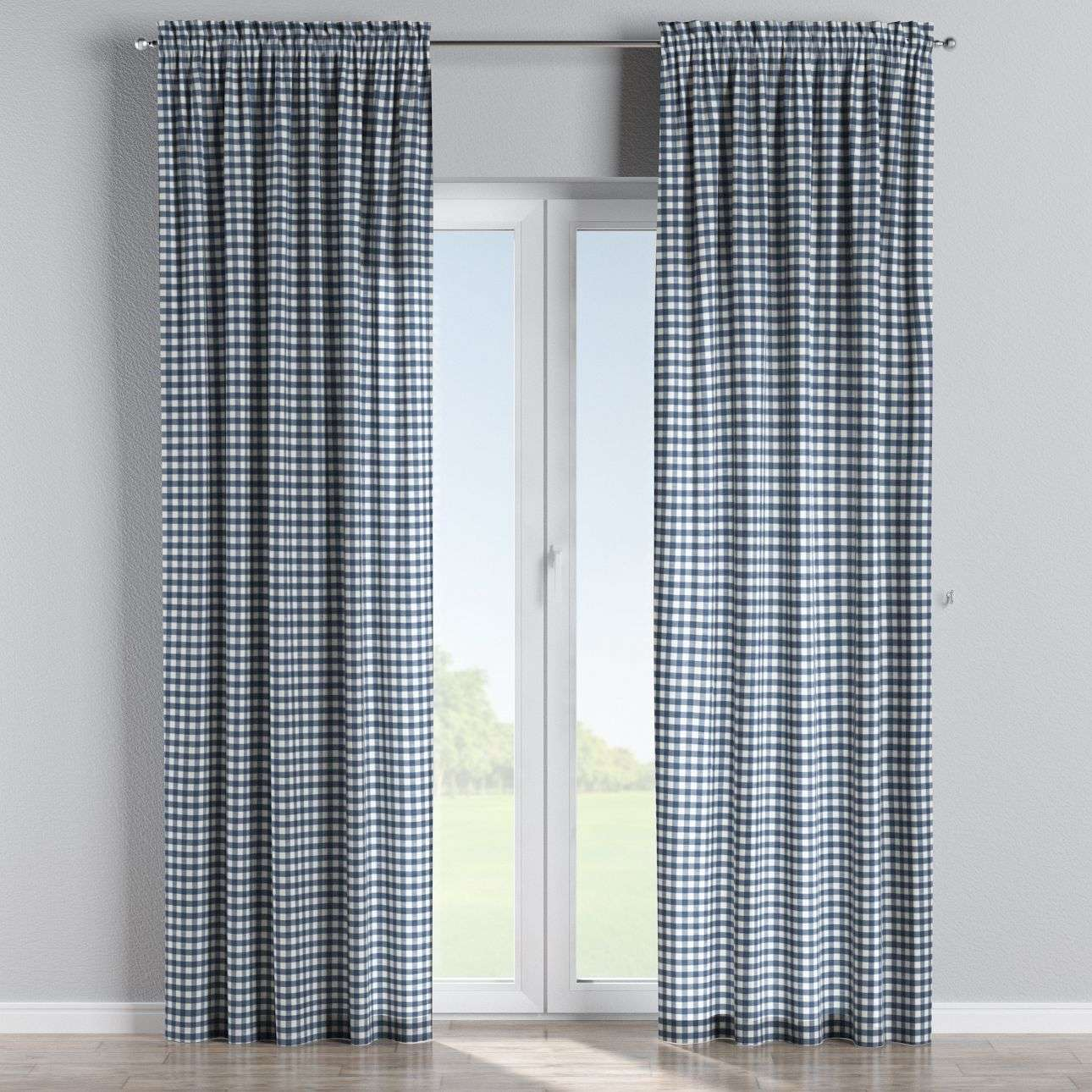 Slot and frill curtains 130 x 260 cm (51 x 102 inch) in collection Quadro, fabric: 136-01