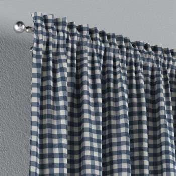 Zasłona na kanale z grzywką 1 szt. 1szt 130x260 cm w kolekcji Quadro, tkanina: 136-01
