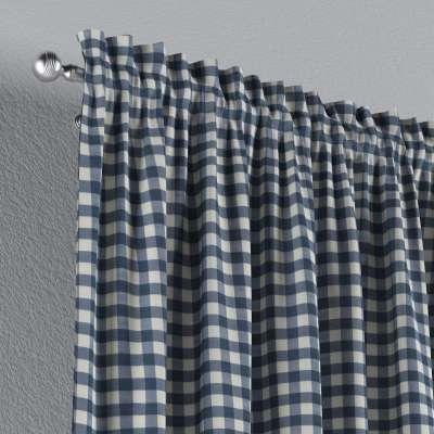 Zasłona na kanale z grzywką 1 szt. w kolekcji Quadro, tkanina: 136-01