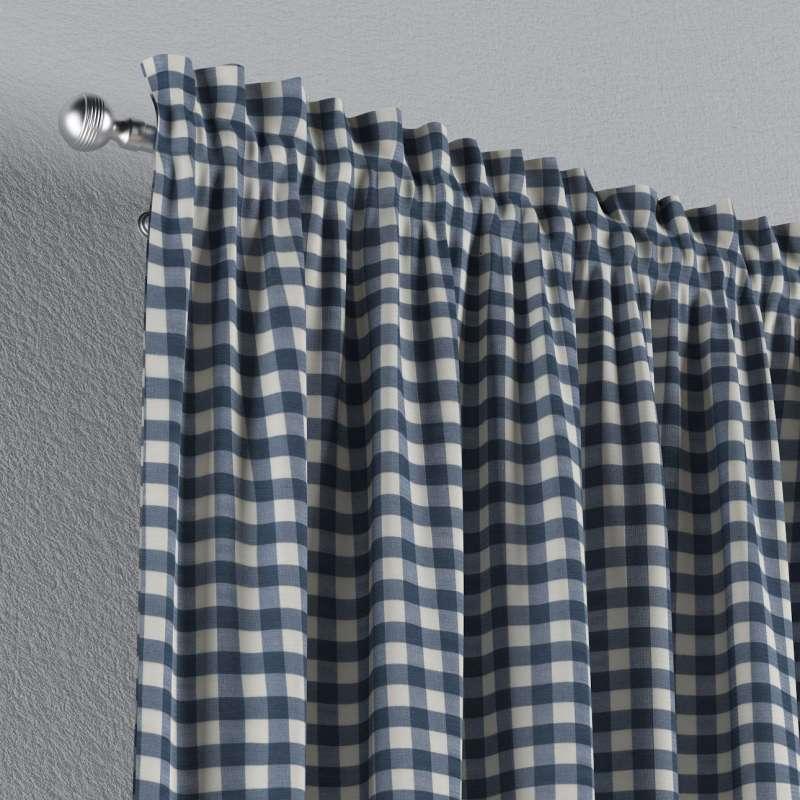 Vorhang mit Tunnel und Köpfchen von der Kollektion Quadro, Stoff: 136-01