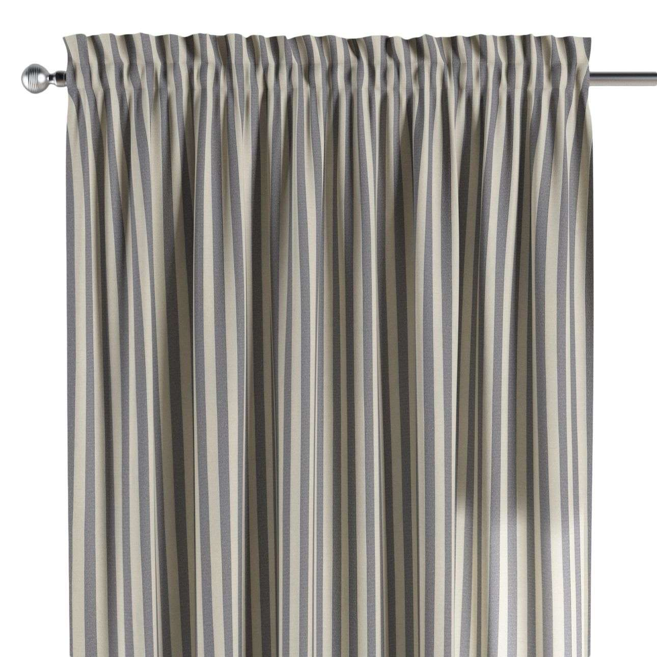 Zasłona na kanale z grzywką 1 szt. w kolekcji Quadro, tkanina: 136-02