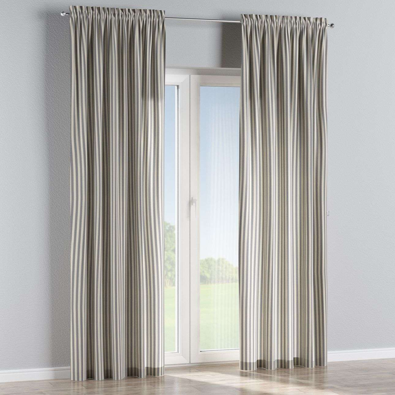 Slot and frill curtains in collection Quadro, fabric: 136-02