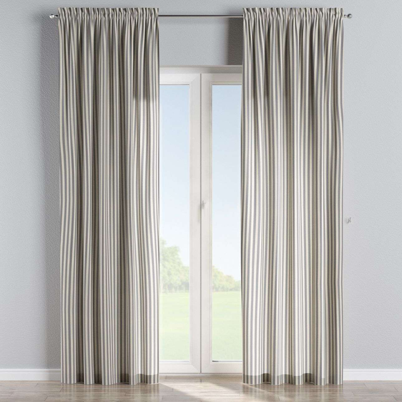 Slot and frill curtains 130 × 260 cm (51 × 102 inch) in collection Quadro, fabric: 136-02