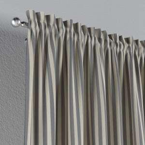 Zasłona na kanale z grzywką 1 szt. 1szt 130x260 cm w kolekcji Quadro, tkanina: 136-02