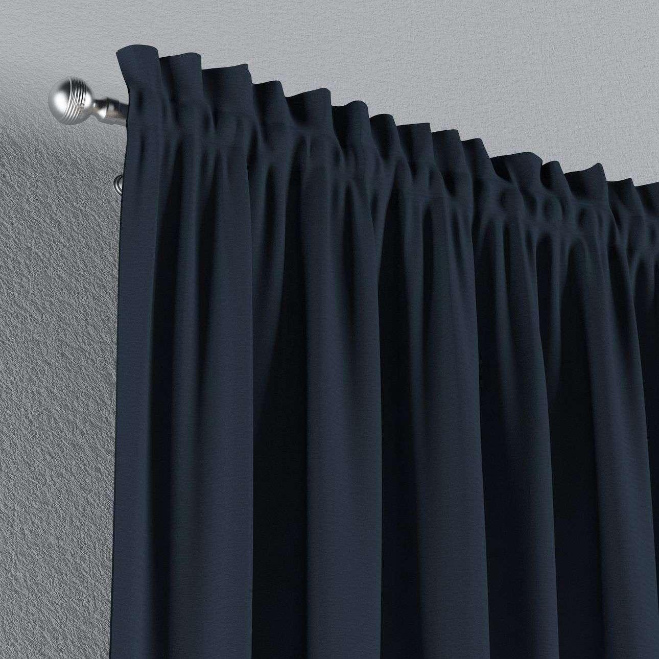 Zasłona na kanale z grzywką 1 szt. 1szt 130x260 cm w kolekcji Quadro, tkanina: 136-04