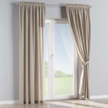 Slot and frill curtains in collection Quadro, fabric: 136-05