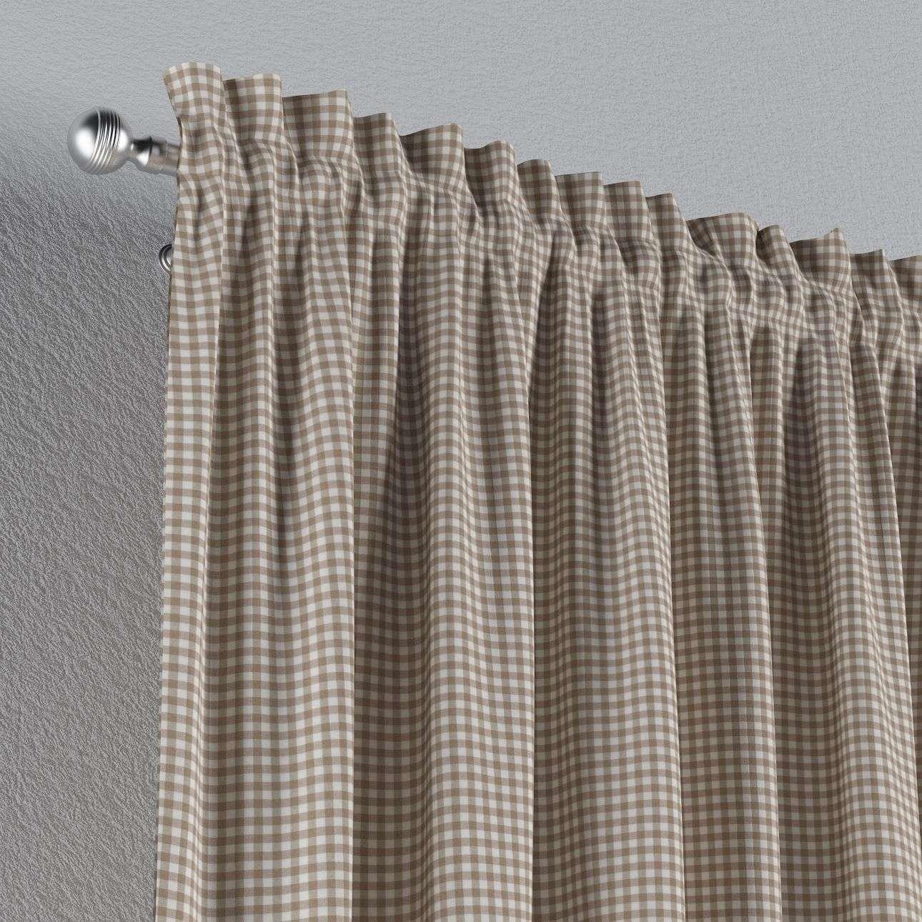 Zasłona na kanale z grzywką 1 szt. w kolekcji Quadro, tkanina: 136-05