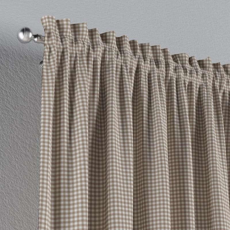 Záves s navliekacou riasiacou páskou V kolekcii Quadro, tkanina: 136-05