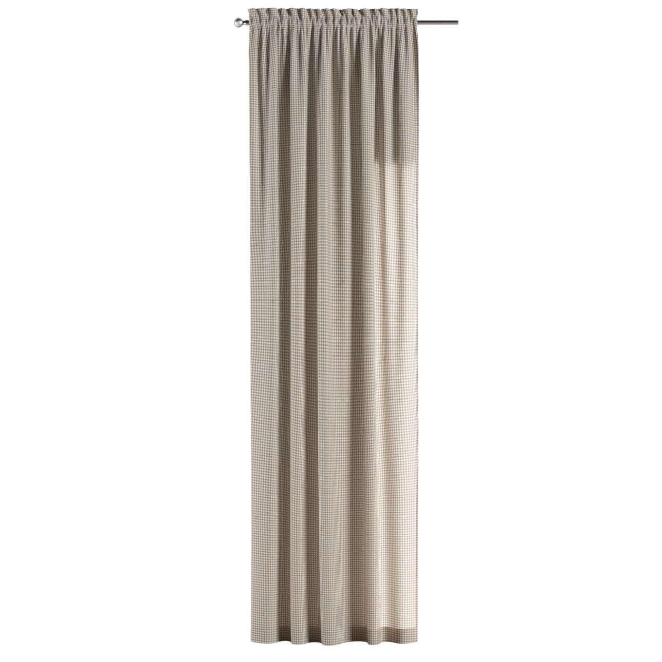 Záves s navliekacou riasiacou páskou 130 x 260 cm V kolekcii Quadro, tkanina: 136-05