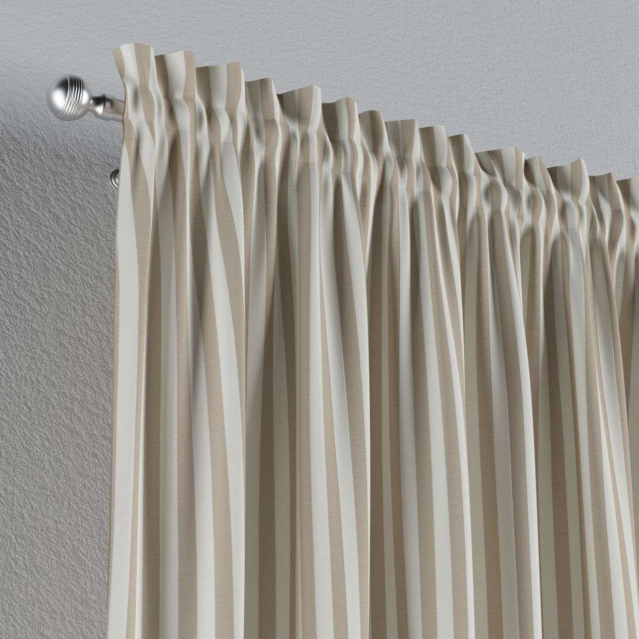 Slot and frill curtains 130 × 260 cm (51 × 102 inch) in collection Quadro, fabric: 136-07