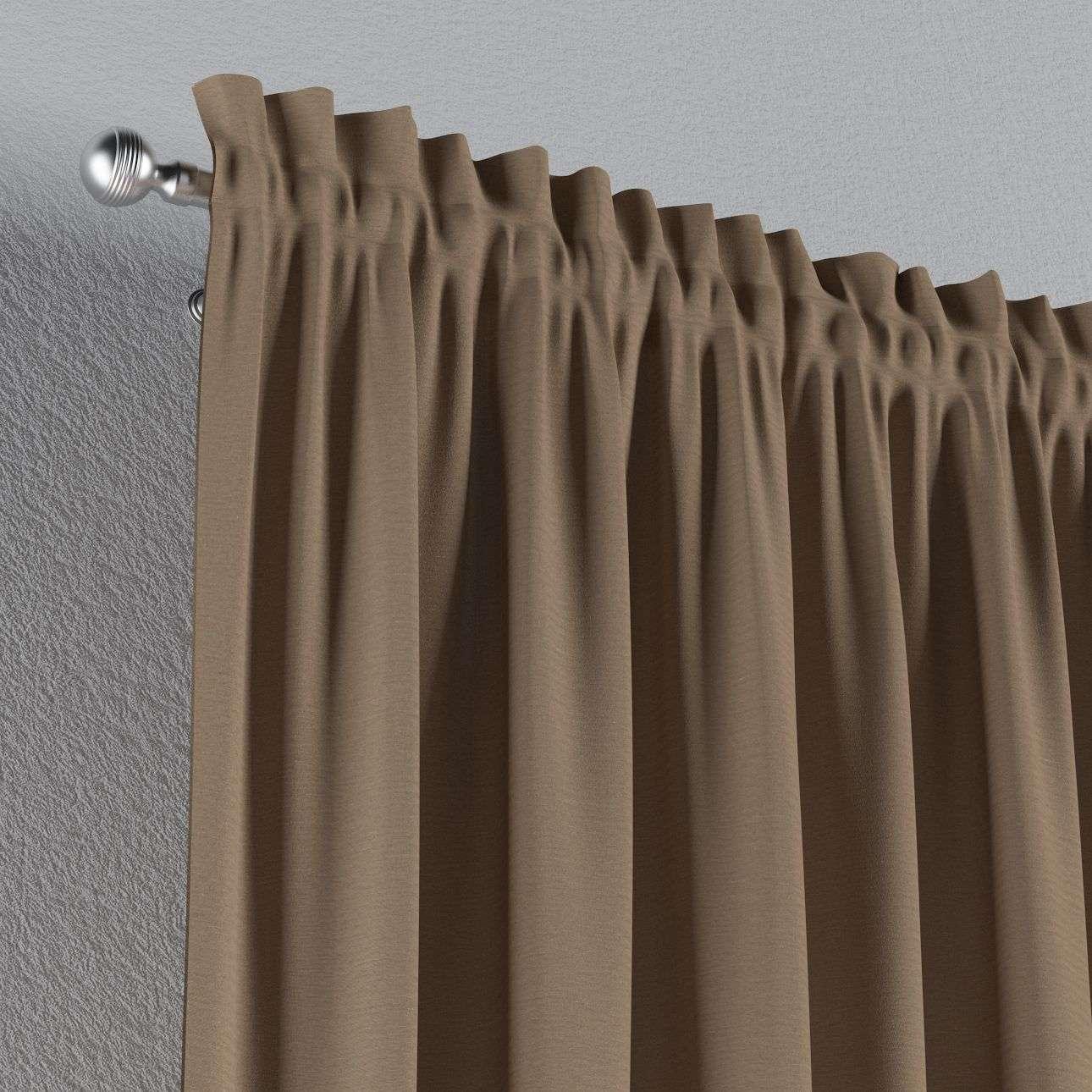 Zasłona na kanale z grzywką 1 szt. 1szt 130x260 cm w kolekcji Quadro, tkanina: 136-09
