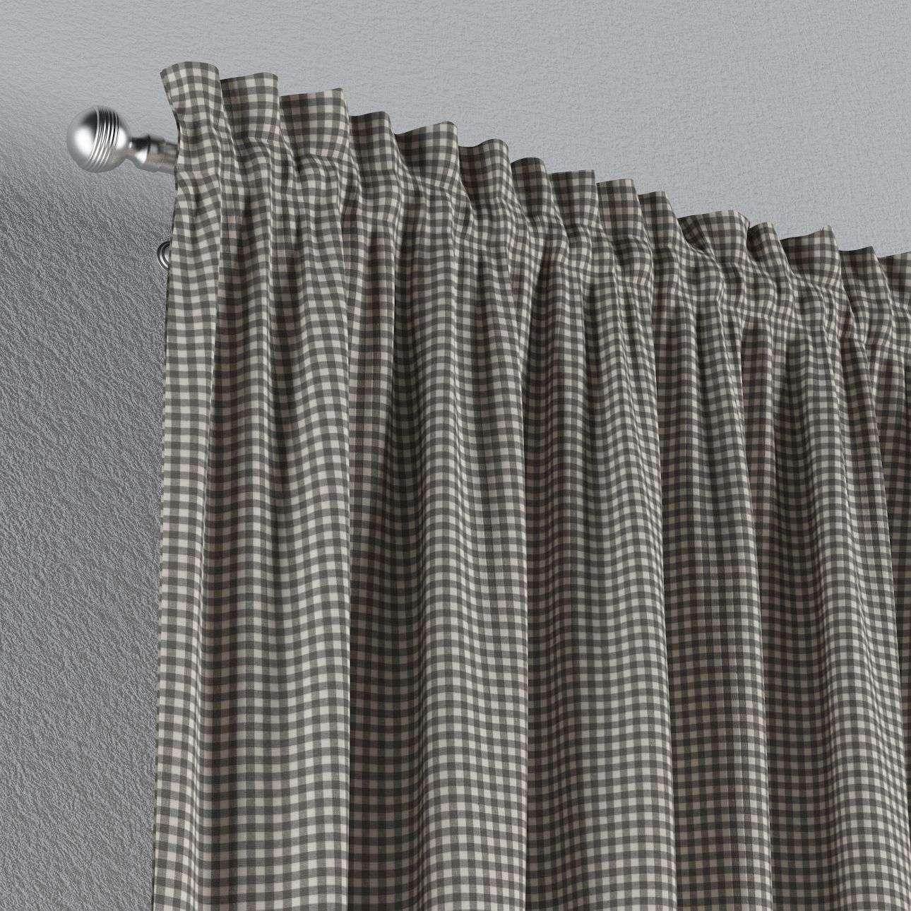 Zasłona na kanale z grzywką 1 szt. 1szt 130x260 cm w kolekcji Quadro, tkanina: 136-10