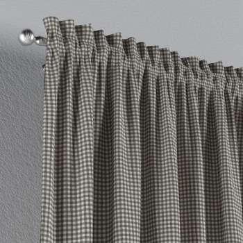 Zasłona na kanale z grzywką 1 szt. w kolekcji Quadro, tkanina: 136-10