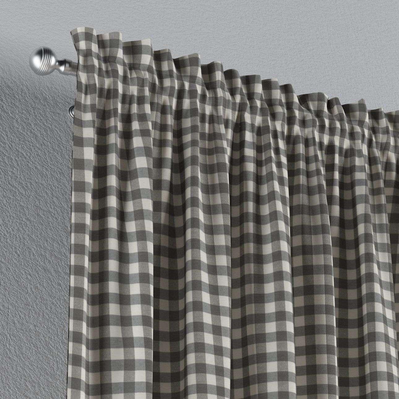 Zasłona na kanale z grzywką 1 szt. 1szt 130x260 cm w kolekcji Quadro, tkanina: 136-11