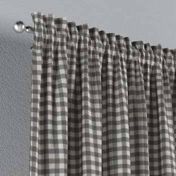 Vorhang mit Tunnel und Köpfchen von der Kollektion Quadro, Stoff: 136-11