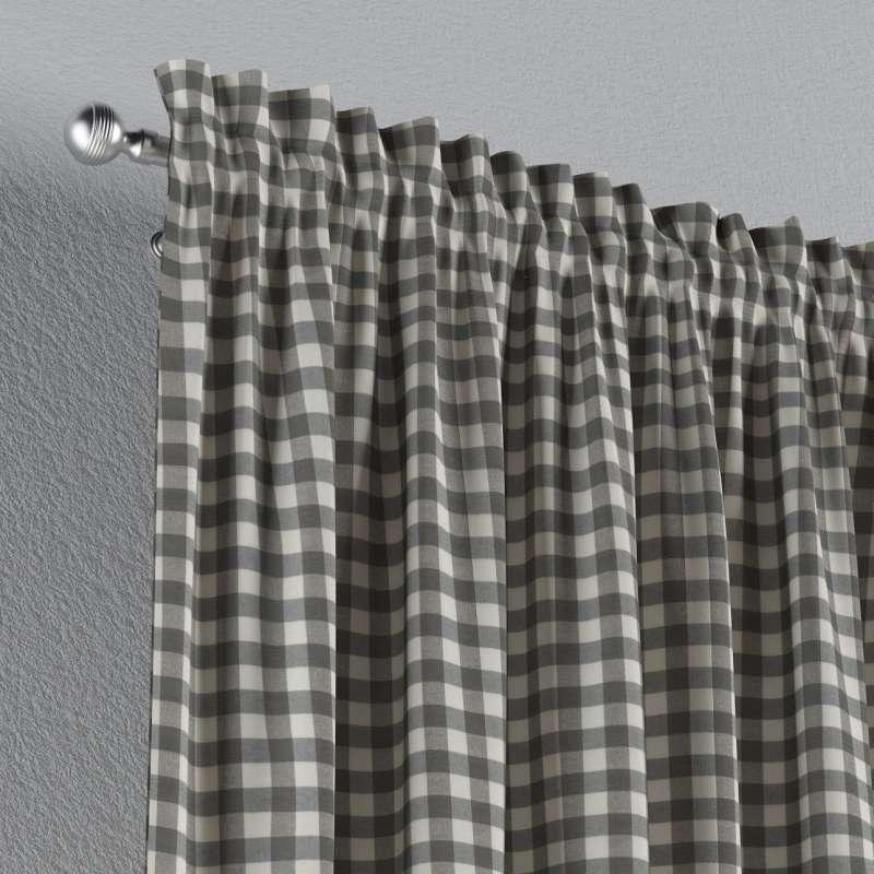 Zasłona na kanale z grzywką 1 szt. w kolekcji Quadro, tkanina: 136-11