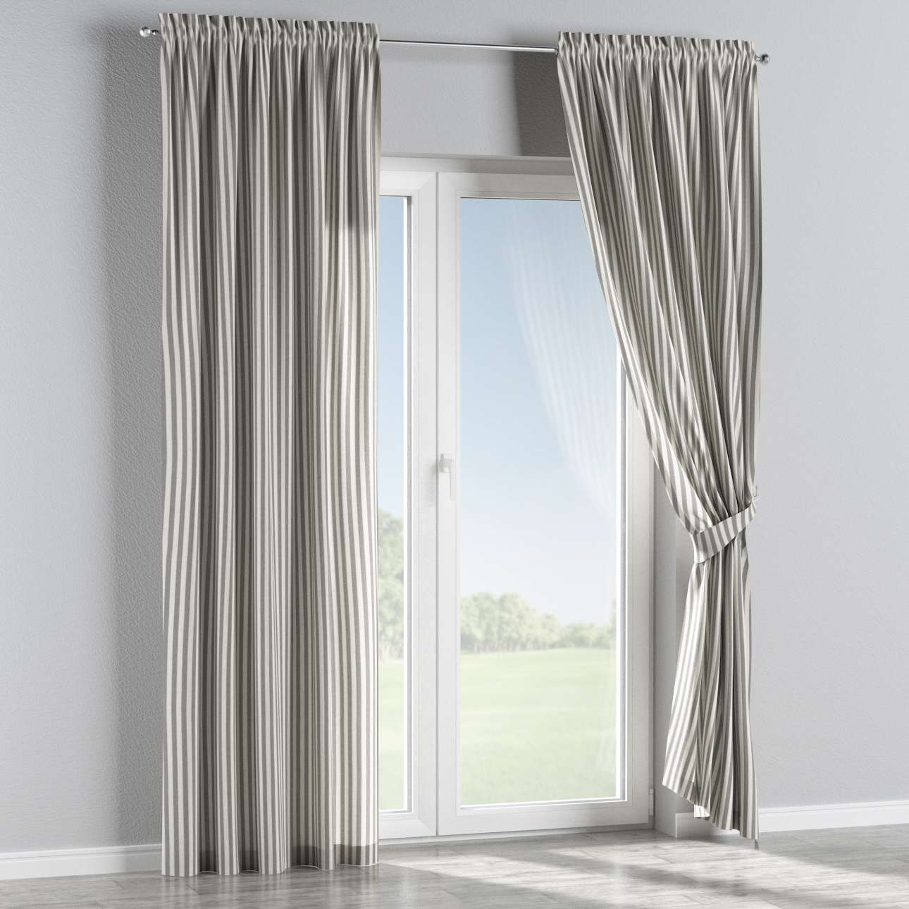 Slot and frill curtains 130 × 260 cm (51 × 102 inch) in collection Quadro, fabric: 136-12