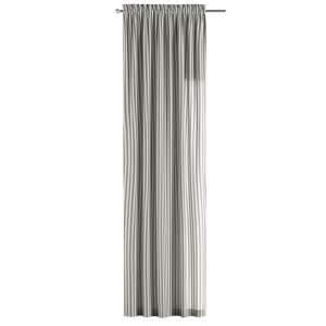 Zasłona na kanale z grzywką 1 szt. 1szt 130x260 cm w kolekcji Quadro, tkanina: 136-12