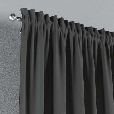 Vorhang mit Tunnel und Köpfchen von der Kollektion Quadro, Stoff: 136-14