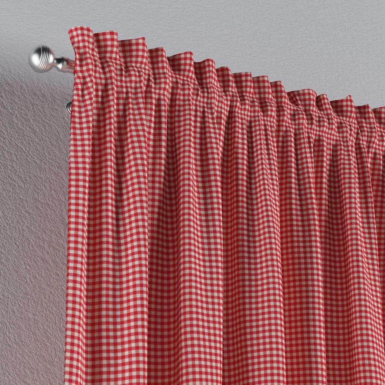 Vorhang mit Tunnel und Köpfchen von der Kollektion Quadro, Stoff: 136-15